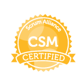 Scrum Master Certification badge