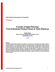 5 Levels of Agile Planning by Hubert Smits
